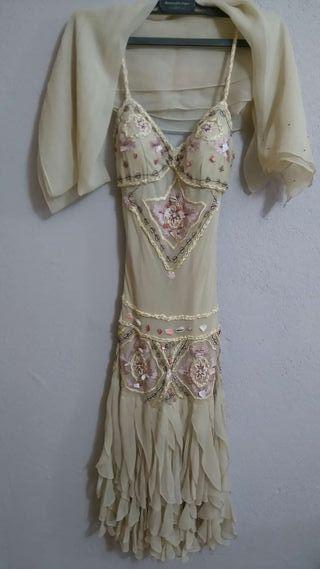 Vestido de boda fiesta con pedrería-bordado