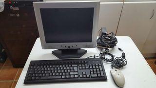 Pantalla, teclado y raton