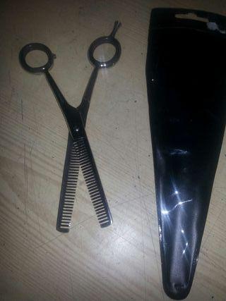 Tijera de dientes exclusiva para peluquería