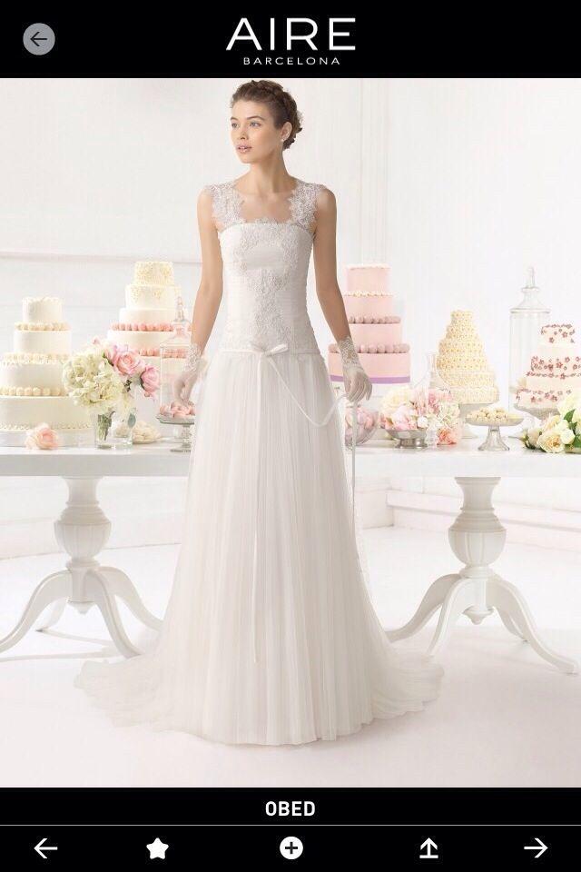 vestido novia obed aire barcelona 2015 de segunda mano por 550 € en