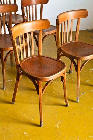 Sillas baumann de bistrot francia a os 40 vintage - Sillas anos 60 ...