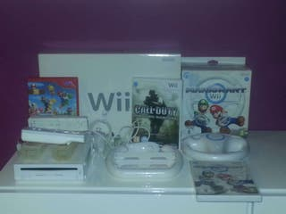 Nintendo Wii + juegos y accesorios