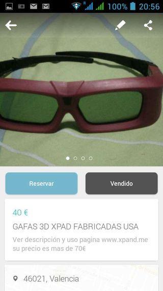 Gafas 3d fabricada EEUU XPAND