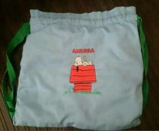 Mochila snoopy nombre bordado Andrea