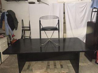 Mesa de reuniones y 6 sillas de segunda mano por 120 en for Wallapop mesas