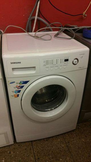 Lavadora Samsung con transporte