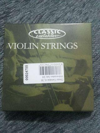 Cuerdas violin 3/4