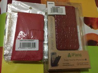Funda cargadora de bateria y funda tipo libro Iphone 4/4S