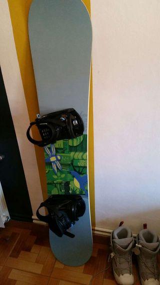 Tabla y botas snow snowboard