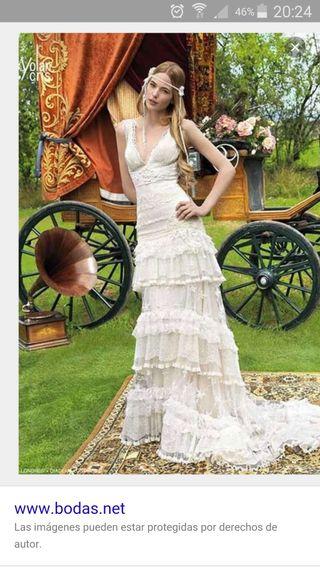 vestido de novia yolan cris de segunda mano en wallapop