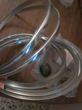 Embellecedor Aluminio Plateado Bmw