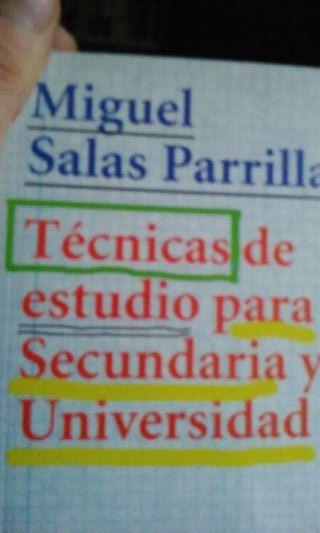 Tecnicas de estudio para secundaria y Universidad. Alianza Editorial, 2008. 304 págs. Nuevo