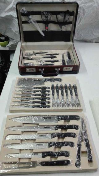 Maletín de cuchillos y útiles cocina
