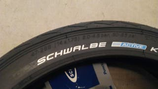 Cubierta rueda schwalbe para bicicleta plegable