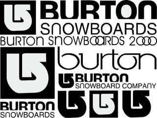 Pack De Pegatinas Snowboard Burton