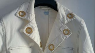 ESCADA Sport americana tejano blanco impecable talla 42 original