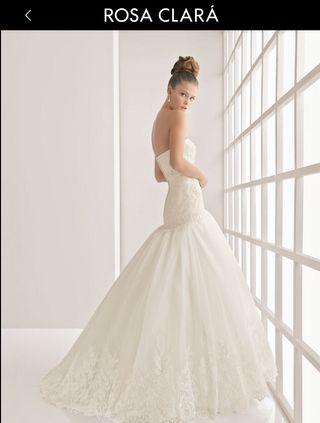 vestido de novia rosa clara de segunda mano en wallapop