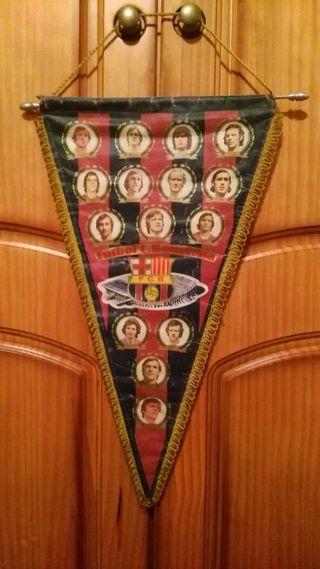 Banderín vintage fc barcelona