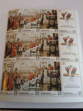 11 Sellos 175 Aniversario Constitución De 1812. Nuevos Sin Circular.#Filatelía #Philatellie