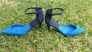 Zapato zara azul talla 36
