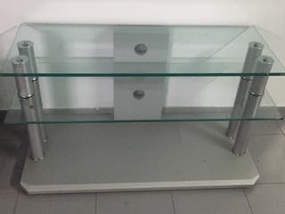 Mesa De Cristal Para Tele