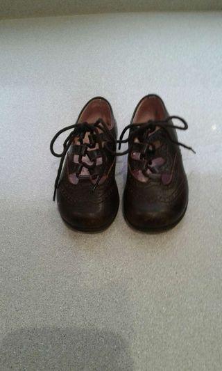 Zapatos de bebé tipo inglés Marrón N'21