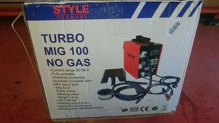 Soldador Style Turbo Mig 100 Sin gas New