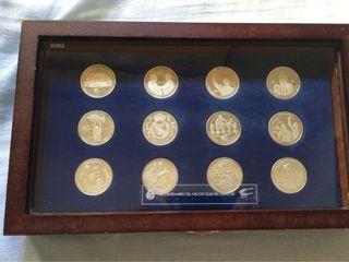 Coleccion Monedas De Plata Del Real Madrid