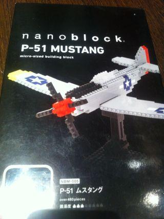 Nanoblock Lego Mustang P-51 Maqueta