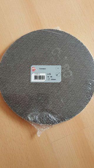 Lija redonda Gr 80 Diámetro 225mm (5)
