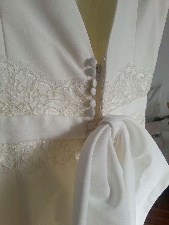 vestido novia seda natural sin estrenar 42 de segunda mano por 550