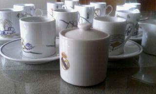 Juego completo de café del Real Madrid a estrenar