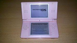 Consola ds lite rosa +cargador