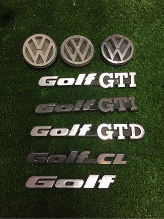 logos traseros vw golf mk2