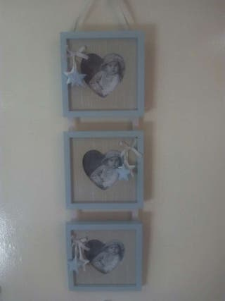 Marco multifoto de tres piezas