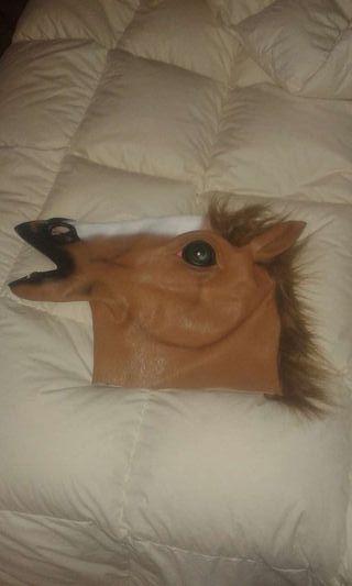 Máscara de caballo de latex