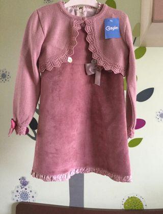 Conjunto vestido y chaqueta niña 5 a