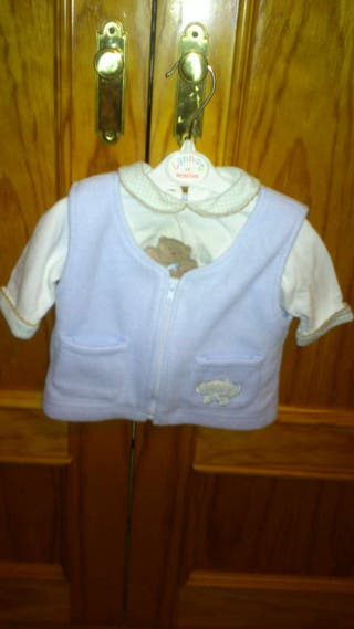 Camiseta y chaleco bebé