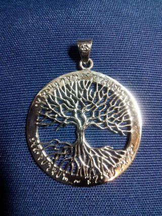 Colgante plata de ley árbol de la vida