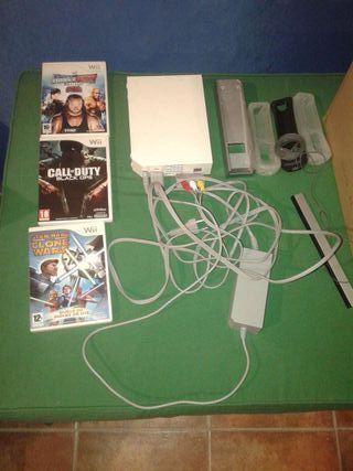 Wii con 3 juegos