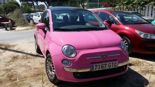 COCHE FIAT 500 PINK