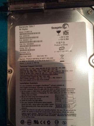Disco duro 80gb seagate PlayStation 2
