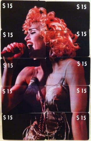 Set Cartes Telephonique Madonna Puzzle UNC