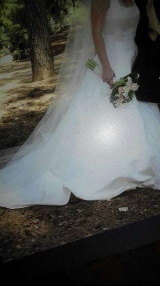 vestido de novia talla 36 de segunda mano en la provincia de