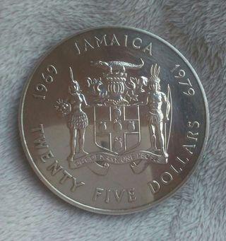 Moneda de Plata de Jamaica 1969
