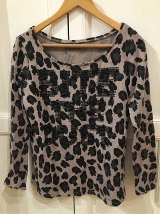 Jersey sudadera camiseta brillantes print Bershka