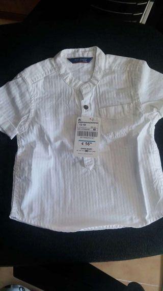 Camisa Zara 12-18m
