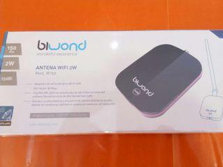 Adaptador usb wifi biwond 150mbps 2w 15dbi
