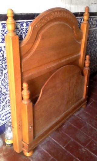 Cabecero y pie cama madera provenzal 90