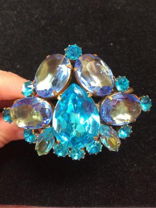 Pulsera Cristal Bohemia Azul
